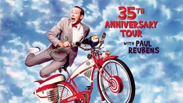 Poster of Pee-Wee Herman and his bike