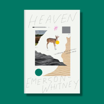 Front cover of Emerson Whitney's book 'Heaven against a teal green background'